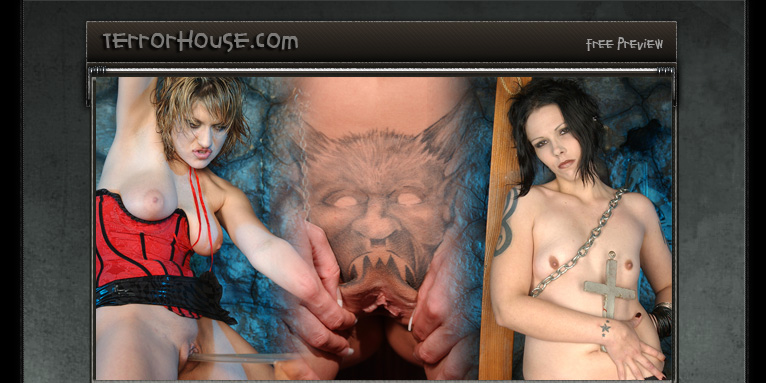 Demon pussy tattoo in gothic sex